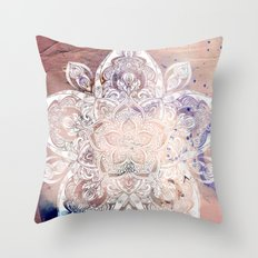 Flower mandala- rose Throw Pillow
