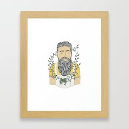Man and frog.  Framed Art Print