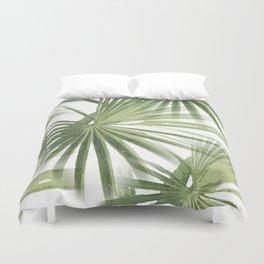 Tropical Beach Palm Vector Duvet Cover