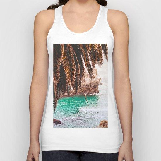 vintage ocean #palm tree Unisex Tank Top