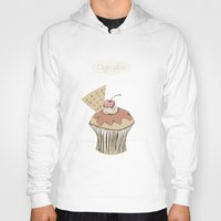 cupcakes Hoodies featuring Cupcakes by Cecilia Sánchez