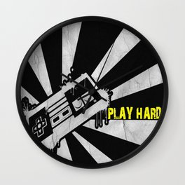 PLAY HARD Wall Clock