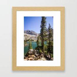 Beautiful Lake Agnes Colorado Framed Art Print