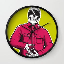 Vato Loco Skull Wall Clock