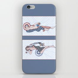 Steve and Bucky Pinups iPhone Skin