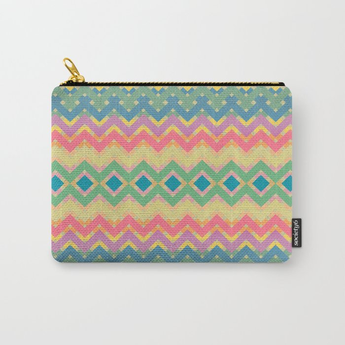 Summer-color Pattern Carry-All Pouch