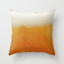 Beer Bubbles Throw Pillow