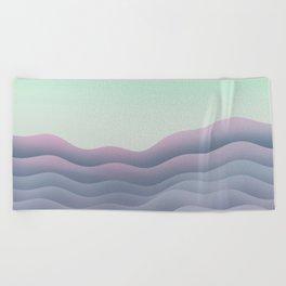 iso mountain sunset Beach Towel