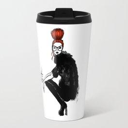 Redhead fashion model Travel Mug
