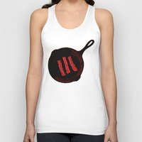 bacon Tank Tops featuring Bacon by ekirkdesign