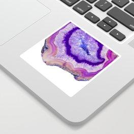 purple agate slice Sticker