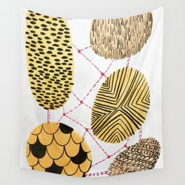 Honey Orbs Wall Tapestry