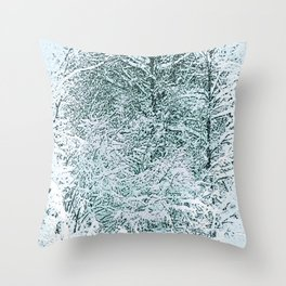 Winter Storm Throw Pillow
