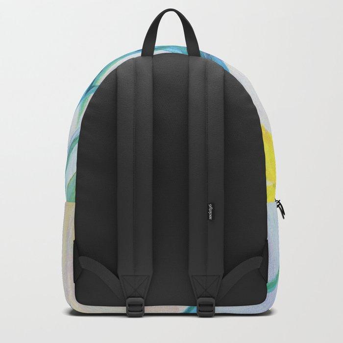 irises on pastel background Backpack