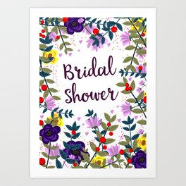 Bridal Shower Vintage Flowers Art Print