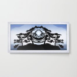 TWO WINDSWEPT DOUGLAS FIR ON THE SHORELINE Metal Print