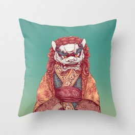 Imperial Guardian Lady Throw Pillow