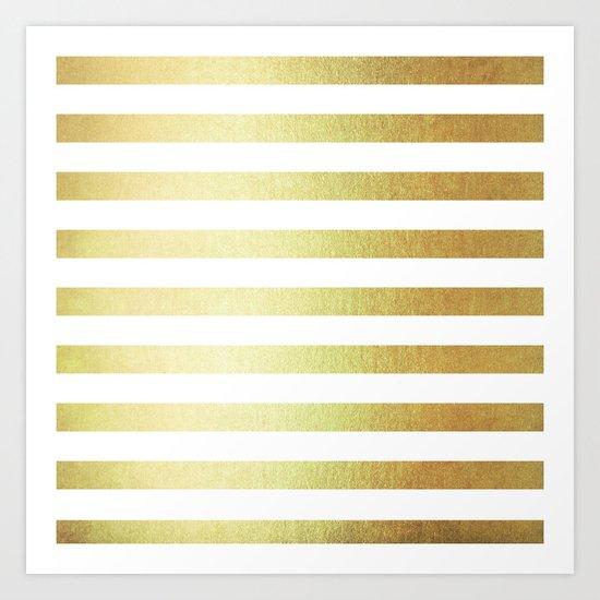 Simply Striped 24K Gold Art Print