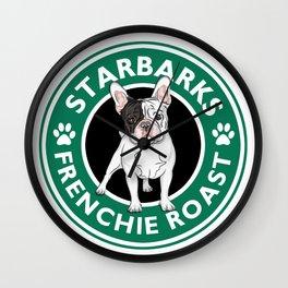 Funny Mug French Bulldog Starbarks Frenchie Roast Wall Clock