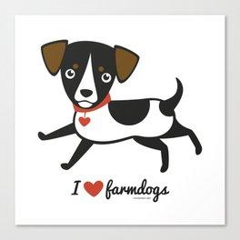 I love farmdogs Canvas Print