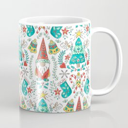 Folk Christmas Tree and Tomte Gnome Coffee Mug