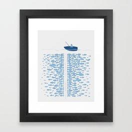217 Finicky Fish (plenty of fish in the sea) Framed Art Print