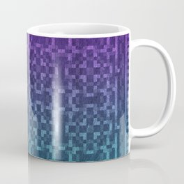 Pixel Patterns Green/Purple Coffee Mug