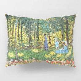 Claude Monet The Artist's Family In The Garden Pillow Sham