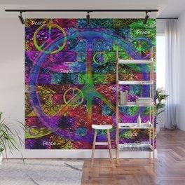Peace Symbol Rainbow Flag Wall Mural