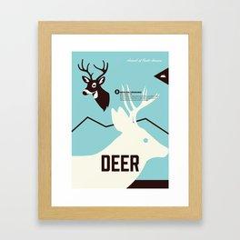 Wildlife of North America: Deer Framed Art Print
