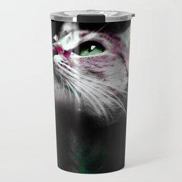 Supernova of the Ethereal Cat Travel Mug