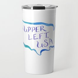 Upper Left, USA - Cool Hues Travel Mug