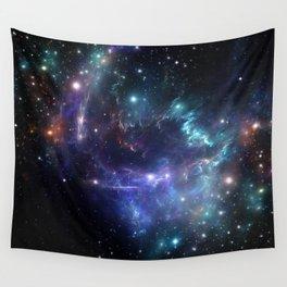 Violet green nebula galaxy 180715 Wall Tapestry