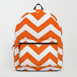 Orange color - Zigzag Chevron Pattern Backpack