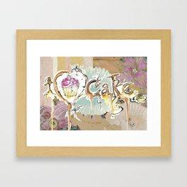 i love cake Framed Art Print