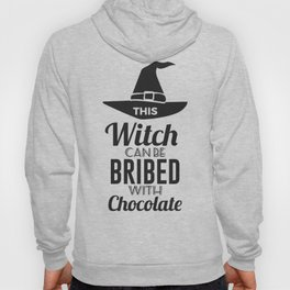 Bribe Witch With Chocolate Candy Trick Or Treat Halloween Design Hoody