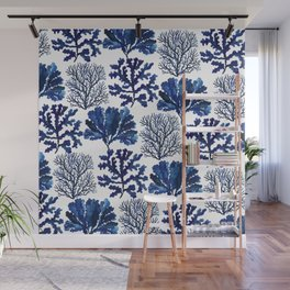Sea life collection pattern Wall Mural
