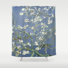 Almond Blossom - Vincent Van Gogh (blue pastel) Shower Curtain