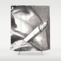smoke Shower Curtains featuring Smoke by ArtLm