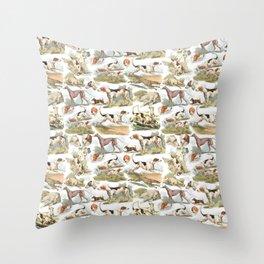 Hounds, Hounds, Hounds Throw Pillow