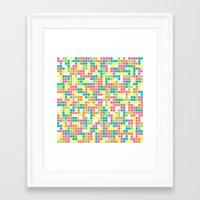 tetris Framed Art Prints featuring Tetris by Alisa Galitsyna