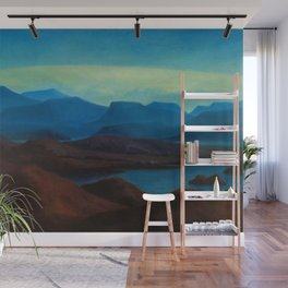 Icelandic Dreams, Nordic alpine blue mountain landscape by Thorarinn Thorlaksson Wall Mural