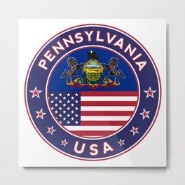 Pennsylvania, Pennsylvania t shirt, sticker, poster Metal Print