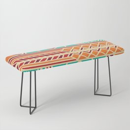 Tribal ethnic geometric pattern 027 Bench