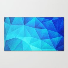 Abstract Polygon Multi Color Cubizm Painting in ice blue Canvas Print