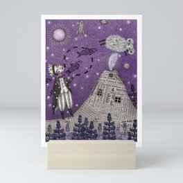 When the Little Prince came to Iceland Mini Art Print