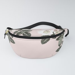 Bees + Blackberries on Pale Pink Fanny Pack