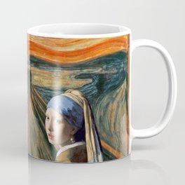 The Scream of Pearl Earring Girl Coffee Mug