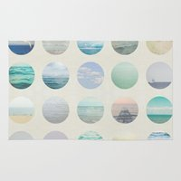 polka dot Area & Throw Rugs featuring Ocean Polka dot  by Pure Nature Photos