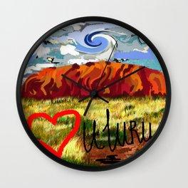 I love Uluru Wall Clock